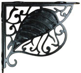 Cast Iron Bodhi Leaf Shelf Bracket