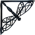 Cast Iron Dragonfly Shelf Bracket