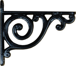 Cast Iron Petite Scroll Shelf Bracket From Antique Revelry