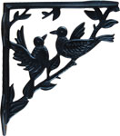 Cast Iron Song Birds Shelf Bracket