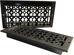 Cast Iron Tudor Heat Register